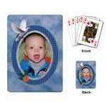 Pretty Blue Playing Cards - Playing Cards Single Design