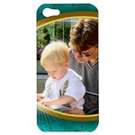 Teal and Gold Apple iPhone 5 Hardshell Case