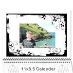 Classic Swirly Grunge  2015 Calendar  - Wall Calendar 11  x 8.5  (12-Months)