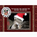 Meowy Christmas 5x7 Photo Cards - 5  x 7  Photo Cards