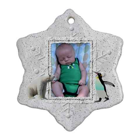 Winter Christmas Ornament By Lil    Ornament (snowflake)   Numge2tqnp5n   Www Artscow Com Front