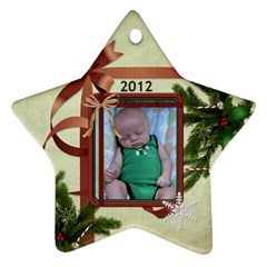 2012 Christmas Ornament (2 Sides) By Lil    Star Ornament (two Sides)   297328uaf057   Www Artscow Com Front