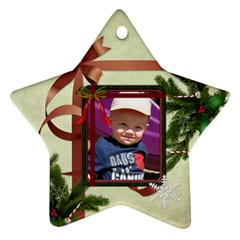 2012 Christmas Ornament (2 Sides) By Lil    Star Ornament (two Sides)   297328uaf057   Www Artscow Com Back