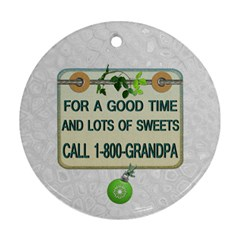 Grandfather 2012 Christmas Ornament By Lil    Round Ornament (two Sides)   Nf4i6c608wh9   Www Artscow Com Back
