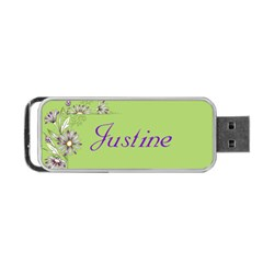 Floral Usb Flash (2 Sided) By Deborah   Portable Usb Flash (two Sides)   Lvys9z2ob1t9   Www Artscow Com Back