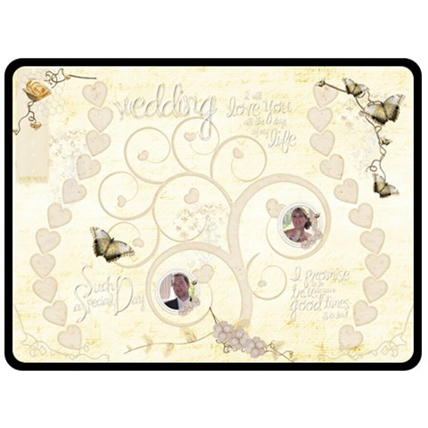 Heirloom Wedding Extra Large Fleece Blanket By Catvinnat   Fleece Blanket (large)   O6u3fp3k9ij1   Www Artscow Com 80 x60 Blanket Front
