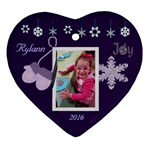 Elisha 1st Christmas - Ornament (Heart)