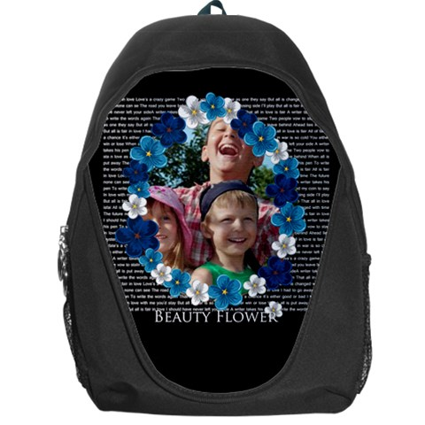 Beauty Flower By Joely   Backpack Bag   Uc7qsogtirpn   Www Artscow Com Front