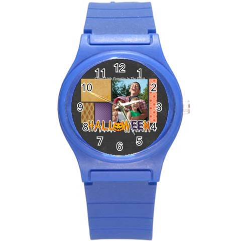 Halloween By Joely   Round Plastic Sport Watch (s)   Drg7n16qrlsm   Www Artscow Com Front