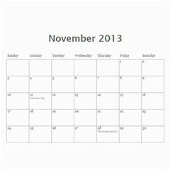 Animal Calendar By Maryanne   Wall Calendar 11  X 8 5  (12 Months)   24l5gk53isei   Www Artscow Com Nov 2013
