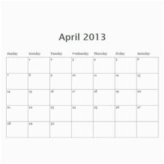 Animal Calendar By Maryanne   Wall Calendar 11  X 8 5  (12 Months)   24l5gk53isei   Www Artscow Com Apr 2013