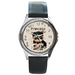 yorkie watch - Round Metal Watch