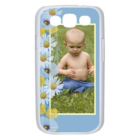 Blue Poppy Samsung Galaxy S Iii Case (white) By Deborah   Samsung Galaxy S Iii Case (white)   Kla3vgj6vy5g   Www Artscow Com Front