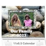 rocky family calendar - Wall Calendar 11  x 8.5  (18 Months)