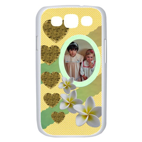 Hearts And Flowers Samsung Galaxy S Iii Case (white) By Deborah   Samsung Galaxy S Iii Case (white)   Cexkv81ptkzd   Www Artscow Com Front
