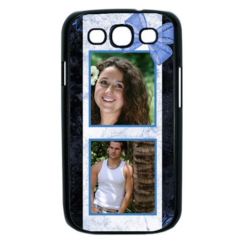 Marble Blue Samsung Galaxy S Iii Case (black) By Deborah   Samsung Galaxy S Iii Case (black)   E4rdo6dizm6t   Www Artscow Com Front