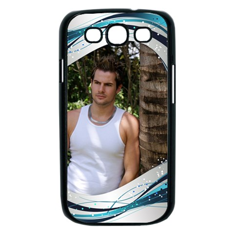 Blue Wave Samsung Galaxy S Iii Case (black) By Deborah   Samsung Galaxy S Iii Case (black)   I9h2qxru7gtz   Www Artscow Com Front