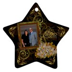 Star vertical gold black ornament - Ornament (Star)