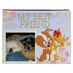 My Best Friend Cosmetic Bag (xxxl) By Kim Blair   Cosmetic Bag (xxxl)   Rp56ss34zshe   Www Artscow Com Back