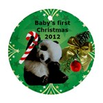 Panda Baby - Round Ornament (Two Sides)