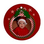Red Candy Christmas Ornament - Ornament (Round)