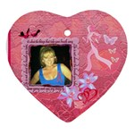 Beth Breast cancer heart ornament - Ornament (Heart)