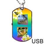 Tropical Dog Tag USB Flash - Dog Tag USB Flash (One Side)