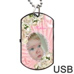 Baby Girl Dog Tag USB Flash - Dog Tag USB Flash (One Side)