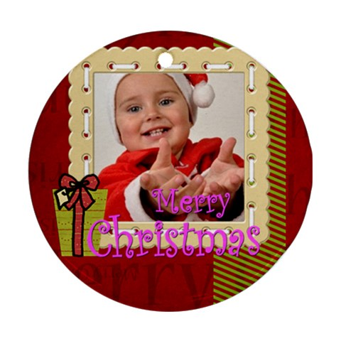 Xmas By Man   Ornament (round)   30eqpfs9u4e7   Www Artscow Com Front