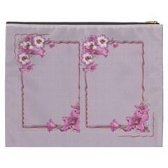 Pink Flower Cosmetic Bag (xxxl) By Deborah   Cosmetic Bag (xxxl)   Mf1nvy2hdht9   Www Artscow Com Back