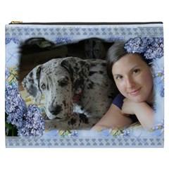 Blue Lilac Cosmetic Bag (xxxl) By Deborah   Cosmetic Bag (xxxl)   C6mnbwf04c5r   Www Artscow Com Front