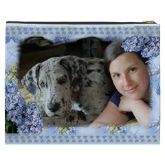 Blue Lilac Cosmetic Bag (xxxl) By Deborah   Cosmetic Bag (xxxl)   C6mnbwf04c5r   Www Artscow Com Back