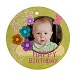 happy birthday - Ornament (Round)