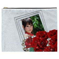 Framed With Roses Cosmetic Bag (xxxl) By Deborah   Cosmetic Bag (xxxl)   59f7ybxi982v   Www Artscow Com Front