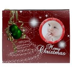 Christmas Collection Cosmetic Bag (xxxl) By Picklestar Scraps   Cosmetic Bag (xxxl)   O7o4v336wqw4   Www Artscow Com Front