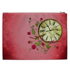 Shabby Rose Cosmetic Bag (xxl)  By Picklestar Scraps   Cosmetic Bag (xxl)   Xadljx01r7n8   Www Artscow Com Back