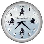 Pug Clock - Wall Clock (Silver)