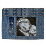 Studded Denim XXL Cosmetic Bag - Cosmetic Bag (XXL)