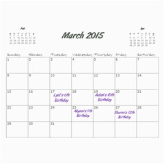 Aj Calendar By Marisa Russo   Wall Calendar 11  X 8 5  (12 Months)   Cfcj2367qh1h   Www Artscow Com Mar 2015