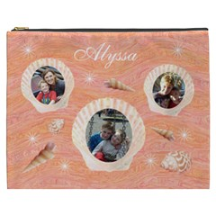 Cosmetic Bag (xxxl)   Seashells By Lmw   Cosmetic Bag (xxxl)   Bhviuc122e33   Www Artscow Com Front