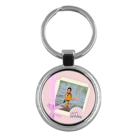 Happy Birthday By Man   Key Chain (round)   Gh6h1i8bbvfj   Www Artscow Com Front