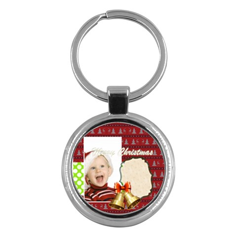 Merry Christmas By Man   Key Chain (round)   3fihotqosnxb   Www Artscow Com Front