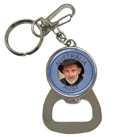 Aust Bottle Opener Key Chain By Deborah   Bottle Opener Key Chain   Nmwafrbwgmy5   Www Artscow Com Front