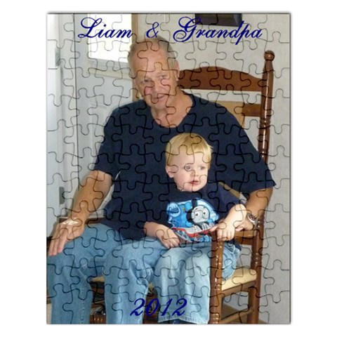 Liam And Grampa Puzzle 2 By Sherry Olford   Jigsaw Puzzle (rectangular)   S3w96zci8pa0   Www Artscow Com Front