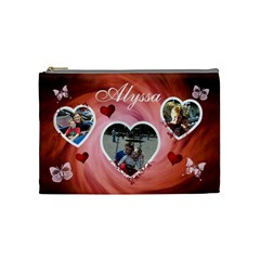 Cosmetic Bag (medium)   Hearts & Butterflies By Lmw   Cosmetic Bag (medium)   Ow6gmdbkag42   Www Artscow Com Front