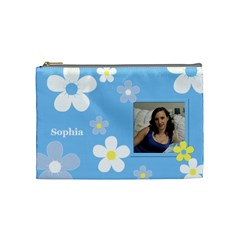 Daisy Cosmetic Bag (medium) By Deborah   Cosmetic Bag (medium)   5z6l6yzztuka   Www Artscow Com Front