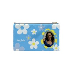 Daisy Cosmetic Bag (small) By Deborah   Cosmetic Bag (small)   Prfjxlbllbsw   Www Artscow Com Back