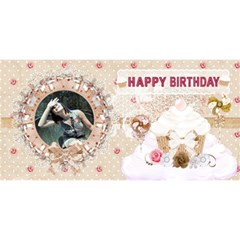 Vintage Birthday Card By Claire Mcallen   Happy Birthday 3d Greeting Card (8x4)   6h44b02y1gjo   Www Artscow Com Front