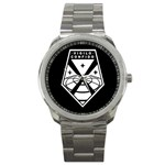 Vigilo Confido White/Black - Sport Metal Watch