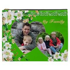 My Family Cosmetic Bag Xxxl By Deborah   Cosmetic Bag (xxxl)   Hruv919kcae1   Www Artscow Com Front
